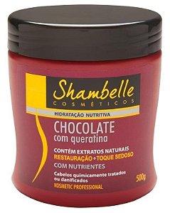 Shambelle Hidratação Nutritiva Chocolate com Queratina 500g - 3 unidades