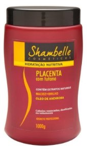 Shambelle Hidratação Nutritiva Placenta com Tutano 1000g - Caixa com 3 unidades
