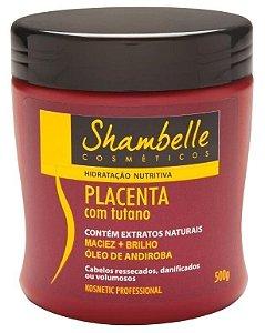 Shambelle Hidratação Nutritiva Placenta com Tutano 500g - Caixa com 3 unidades