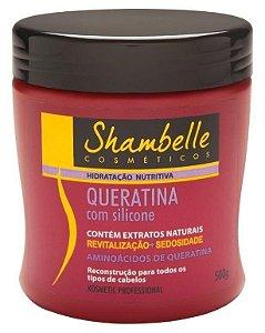 Shambelle Hidratação Nutritiva Queratina com Silicone 500g - Caixa com 3 unidades
