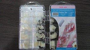Unhas Postiças Tips com 100 Unidades Curta - Caixa com 3 unidades