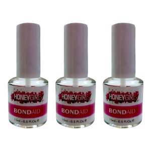 Kit 2 Cola Unhas Postiças Honey Girl Com Pincel 15 ml