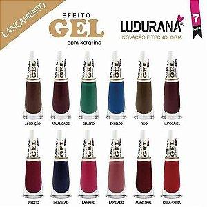 Kit Coleção Esmalte Efeito Gel Ludurana - Caixa com 6 unidades de cada