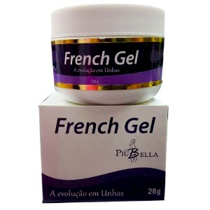 French Gel Uv Branco 28g Piu Bella Para Unhas De Gel E Fibra 3 unidades