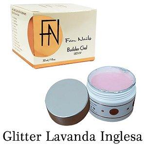 Builder Gel Fan Nails Auto Brilho Autonivelante Glitter Lavanda Inglesa -  3 Unidades