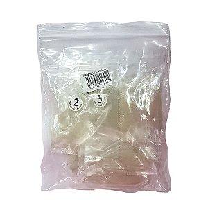 Kit com 3 Sacos Tips Bailarina Transparente Unhas Acrigel Porcelana C/ 500 unidades