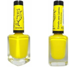 Esmalte LaFemme - Amarelo - 9ml - Carimbo - Caixa com 6 unidades