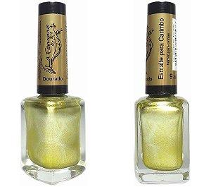 Esmalte LaFemme - Dourado - 9ml - Carimbo - Caixa com 6 unidades