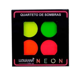 Quarteto de Sombras Matte Neon Ludurana 4g - 3 Unidades