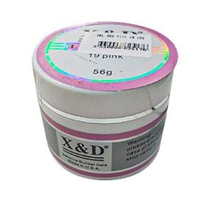 Gel Para Unhas X&D Profissional 19 Pink 56g - 3 Unidades