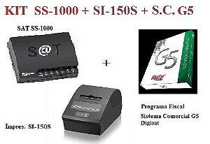 SAT FISCAL SS-1000 + Impressora de Cupom SI-150S - SWEDA + Programa Fiscal COMERCIAL G5 - DIGISAT [KIT]  {PROMOÇÃO} ** REVENDA AUTORIZADA **