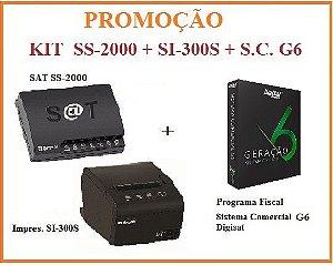 SAT FISCAL SS-2000 + Impressora de Cupom SI-300S  - SWEDA + Programa Fiscal COMERCIAL G6 - DIGISAT [KIT] [PROMOÇÃO] ** REVENDA AUTORIZADA