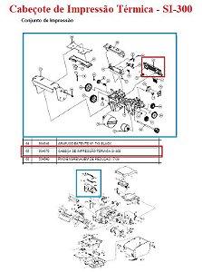 Cabeçote Térmico  de Impressão para SI-300 (S/L/W) - SWEDA *** REVENDA AUTORIZADA ***