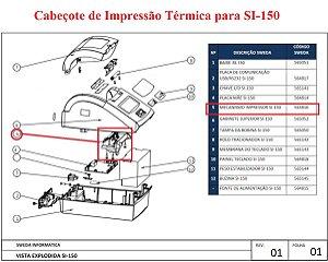 Cabeçote Térmico  de Impressão para SI-150S - SWEDA *** REVENDA AUTORIZADA ***