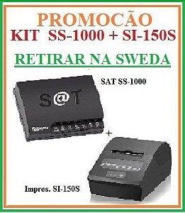SAT FISCAL SS-1000 + Impressora de Cupom SI-150S [KIT] - SWEDA [PROMOÇÃO] {RETIRAR NA FABRICA} ## REVENDA AUTORIZADA ##