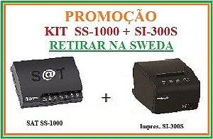 SAT FISCAL SS-1000 + Impressora de Cupom SI-300S [KIT] - SWEDA [PROMOÇÃO] {RETIRAR NA FABRICA} ** REVENDA AUTORIZADA **