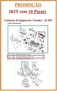 Cabeçote Térmico  de Impressão para SI-300 (S/L/W) [KIT com 10 Peças] - SWEDA *** REVENDA AUTORIZADA ***