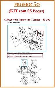 Cabeçote Térmico  de Impressão para SI-300 (S/L/W) [KIT com 05 Peças] - SWEDA *** REVENDA AUTORIZADA ***