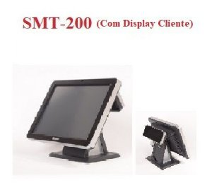 "Monitor Touch 15"" SMT-200 COM Display Cliente - SWEDA {US$} *** REVENDA AUTORIZADA ***"