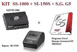 SAT FISCAL SS-1000 + Impressora de Cupom SI-150S - SWEDA + Programa Fiscal GERENCIAL G5 - DIGISAT [KIT] ** REVENDA AUTORIZADA **