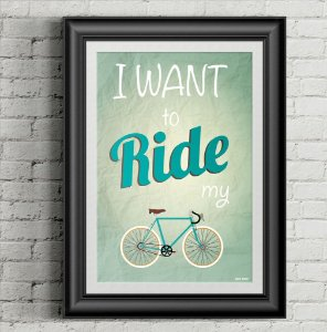 Poster Ride my bike