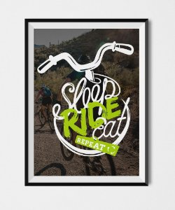 Poster Sleep Ride Eat and Repeat