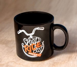 Caneca 360ml - Sleep, ride, eat and repeat!