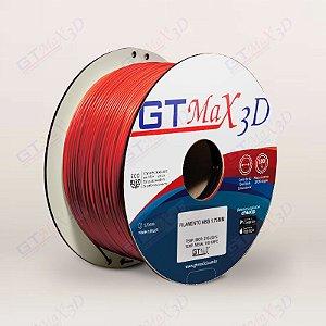 Filamento ABS Premium MG94 1.75mm GTMax3D - Vermelho Fluorescente