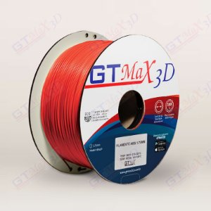 Filamento ABS Premium MG94 1.75mm GTMax3D - Laranja Fluorescente