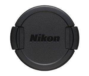 Tampa da lente original Nikon modelo LC-CP31 para câmeras Nikon COOLPIX L840 / COOLPIX B500