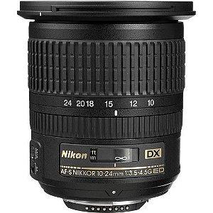 Lente Nikon AF-S DX NIKKOR 10-24mm f/3.5-4.5G ED - Pronta Entrega -