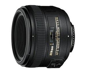 Lente Nikon AF-S NIKKOR 50mm f/1.4G Lente Ultrarrápida, incrivelmente nítida