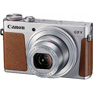 Câmera Canon PowerShot G9 X (Prata) 20.2 MegaPixels, Zoom Ótico de 3x, Vídeo Full HD