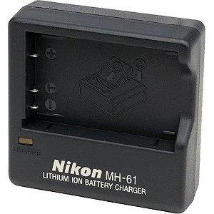 Carregador Nikon MH-61 + Bateria EN-EL5 para câmeras Nikon COOLPIX P90 / P100 / P500 / P510 / P520 / P530