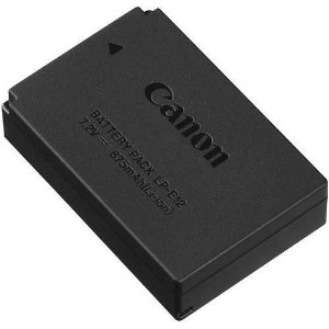 Bateria Canon LP-E12 para câmeras Canon EOS M100 Mirrorless / EOS M50 Mirrorless / Rebel SL1