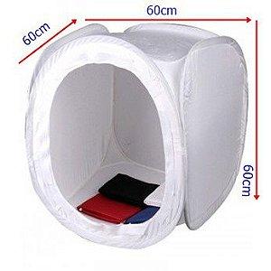 Tenda para iluminação 60 x 60cm com 04 pções de fundos (branco, preto, azul e vermelho)