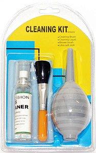 Kit de Limpeza WF WOA 2033, ideal para limpeza de lentes de câmeras, telescópios e binóculos