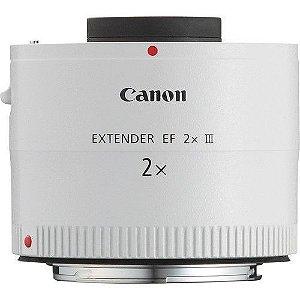 Canon Extender EF 2X III Ampliação de 2X para lentes da série L com distancia focal mais de 135 milímetros