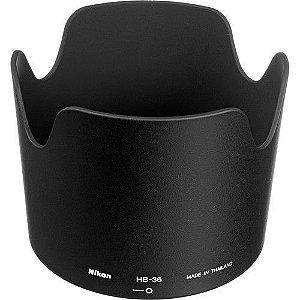 Parasol Nikon HB-36 para Lente Nikon AF-S VR Zoom-Nikkor 70-300mm f/4.5-5.6G IF-ED