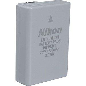 Bateria Nikon EN-EL14a para câmera Nikon Df / D3100 / D3200 / D3500 / D5100 / D5300 / D5600