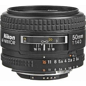 Lente Nikon AF Nikkor 50mm f/1.4D