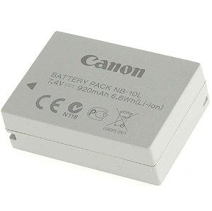 Bateria Canon NB-10L para câmeras Canon PowerShot G15 / G16 / G1 X / G3 X / SX40 HS / SX50 HS / SX70 HS