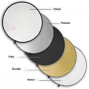 Rebatedor Circular dobrável de 5 faces em 1, ideal para estúdio ou externas 110cm