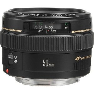 Lente Canon EF 50mm f/1.4 USM + Parasol Canon ES-71II