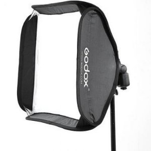 Sistema SOFTBOX 80 x 80cm com suporte para Flash Speedlite Universal