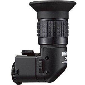 Visor de ângulo reto retangular Nikon DR-6 para câmera Nikon DSLR D3300, D5600, D7200, D610. D750
