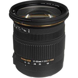 Lente Sigma 17-50mm f/2.8 EX DC OS para câmeras Canon EOS - Pronta Entrega -