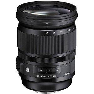 Lente Sigma 24-105mm f/4 DG OS HSM Art Lens para câmeras DSLR Nikon