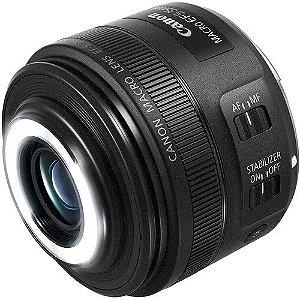Lente Canon EF-S 35mm f/2.8 Macro IS STM + Parasol original Canon ES-27