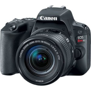 Câmera Canon EOS Rebel SL2 Kit com Lente Canon EF-S 18-55mm f/4-5.6 IS STM